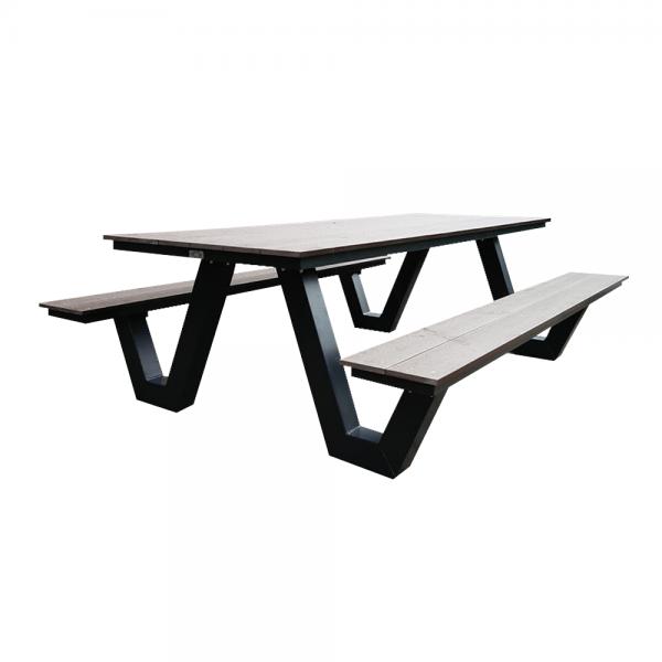 Zwarte picknicktafel staal