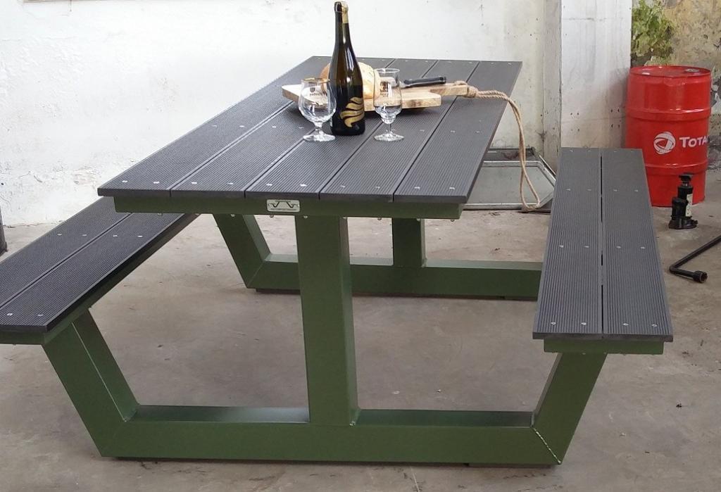 picknickbank donker groen