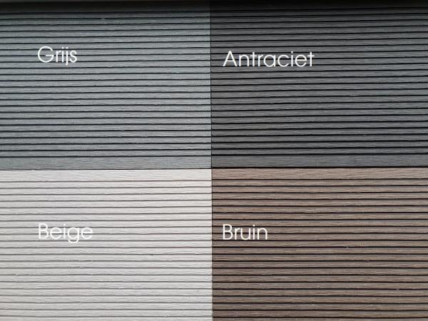 4 kleuren plank composiet
