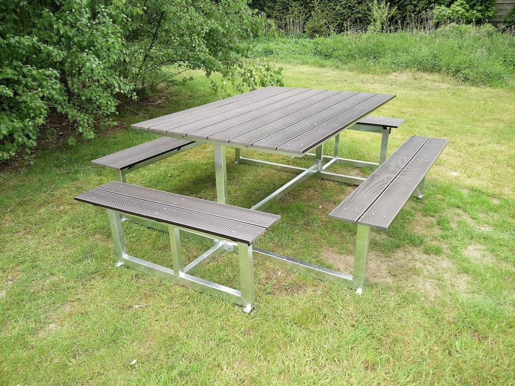 Picknicktafel staal Lifetime Quatro, Jumbo en vierkant