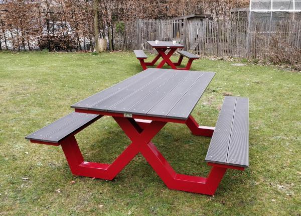 picknicktafel rood