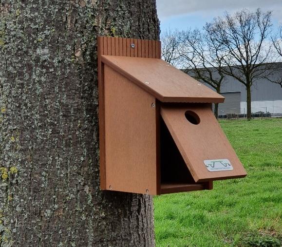 Duurzame nestkast voor mezen
