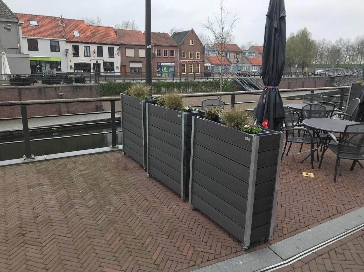 Welp Handige verrijdbare plantenbak voor terras of balkon HG-48