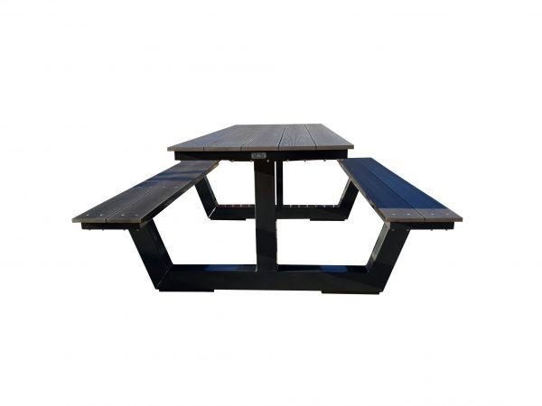 Picknicktafel staal zwart antraciet 2 meter